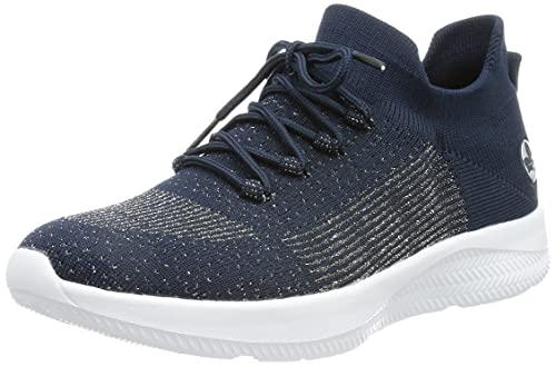Rieker Damen N9968 Sneaker, Blau,39 EU