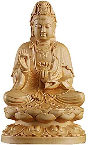 QMZDXH Guan Yin Statue, Statue Figur Kuan Yin Auf Lotus Meditation Bete Skulptur Göttin Der Barmherzigkeit Ornamente Dekoration Geschenk