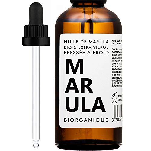 Aceite de Marula ORGÁNICO - 100% Puro y Natural y Prensado en frio - 50 ml - Cuidado para el Cabello, Cuerpo, Piel