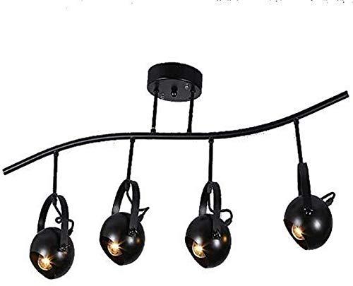 HTL Lámpara colgante de riel E27 estilo retro industrial lámpara lámpara de araña lámpara de araña de bar Cafe fondo montado en la pared Downlight simple personalidad creativa, 20 x 30 cm