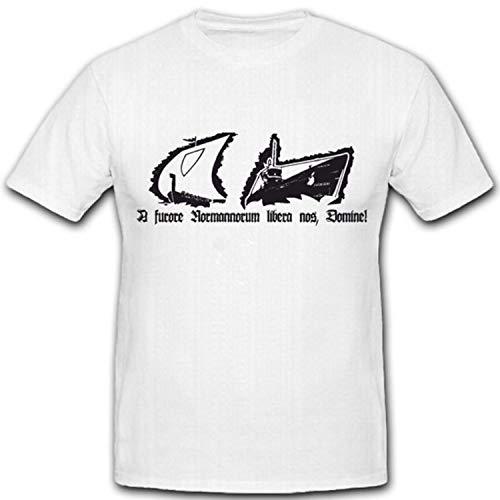 A Furore Norman norum Libera nos Domine Alemania Marino WK U Barco Arma Puerto Norte Hombres kommen Dios erbarme–Camiseta # 4460