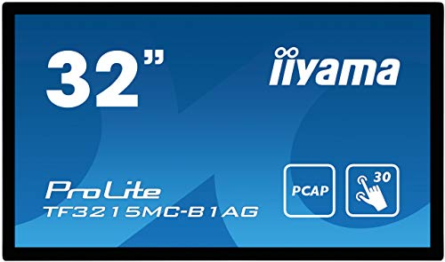 iiyama Prolite TF3215MC-B1AG 80 cm (32 Zoll) AMVA3 LED-Monitor Full-HD Open Frame 30 Punkt Multitouch kapazitiv (VGA, HDMI, USB für Touch, 24/7, IP65, IK-7, AntiGlare) schwarz
