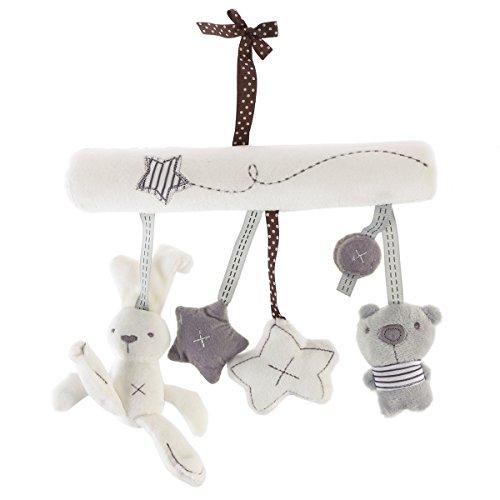 Toyvian Baby Krippe Spielzeug Kinderbett Mobile Rassel Bett Glocke Spielzeug Niedlichen Plüsch Bunny Star Bär Weiches Spielzeug