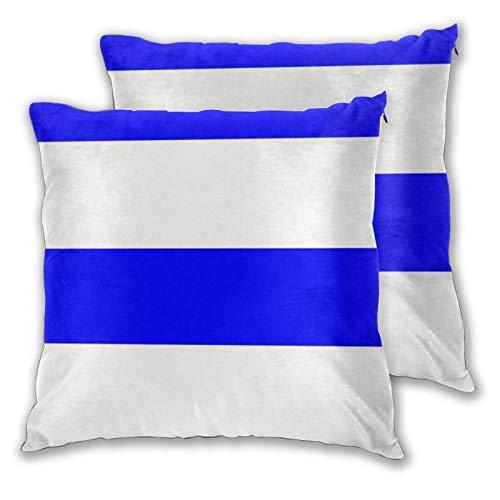 Jack16 Funda de almohada de bandera de Uruguay de 45,7 x 45,
