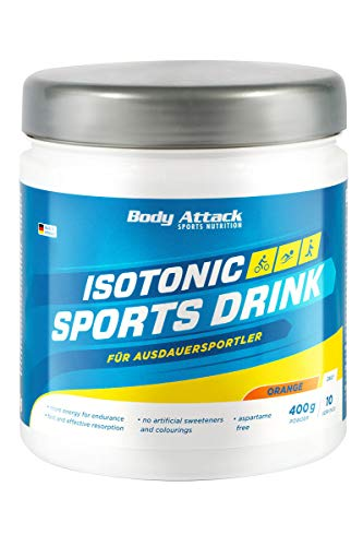 Body Attack Isotonic Sports Drink, Orange, 1er Pack (1 x 400 g)
