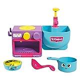 Toomies Bubble & Bake bebés, baño, Juguete de Cocina temático para Hacer Burbujas, 1, Juego de Agua niñas de 18 m y 2, 3 y 4 años de Edad, Multicolor (Tomy E73264)
