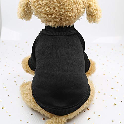 Smoro Haustier Hund Katze Pullover, warme Hunde Pullover Katze Kleidung, Fleece Haustier Mantel für Welpen