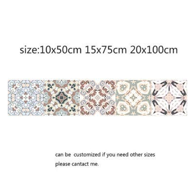 Yubingqin Pegatina de Pared de Mosaico Retro Baño de la Teja de la Cintura de la Cintura de la Pared Etiqueta de la Pared Adhesiva Adhesiva Aseo Impermeable PVC Vinilo de la Pared