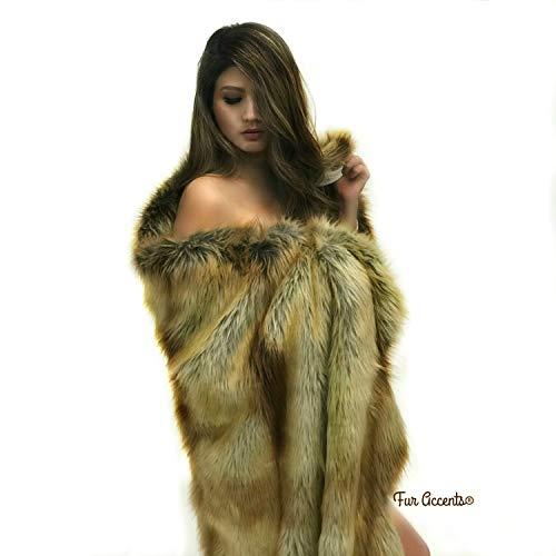 Review Brown Stripe Deer Skin Throw Blanket/Plush Soft Faux Fur Wrap/Minky Fur Lining (5'x6')