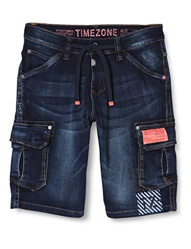 Timezone Herren Regular RykerTZ Shorts, Blau (Second Hand Wash 3898), W33(Herstellergröße: 33)