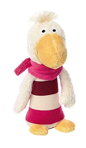 sigikid Hochet Forme Oie Gisella Goose pour Bébé Fille Écru/Rose 16 cm