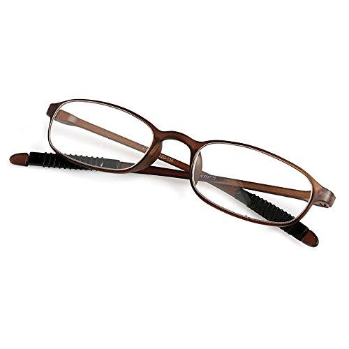 FKY 1 stuk TR90 vrouwen mannen flexibele leesbril lezer sterkte Presbyopie bril +4,00 TAWNY
