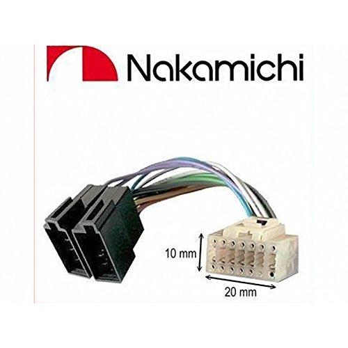 Cable Adapter Kabelbaum ISO für Autoradio Nakamichi–14Pin Anschluss