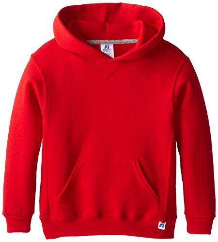 Russell Athletic Athletic Big Boys' Fleece Crew, Hoodie-true Red, L