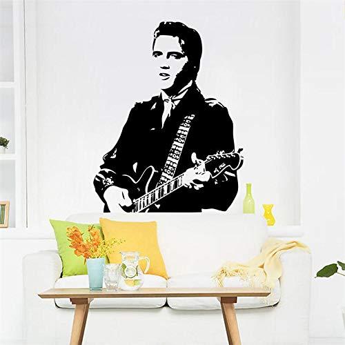 DIY Vinilo clásico Elvis Presley Tocar Guitarra hogar Etiqueta de la Pared/Rock Music Decor Wallpaper