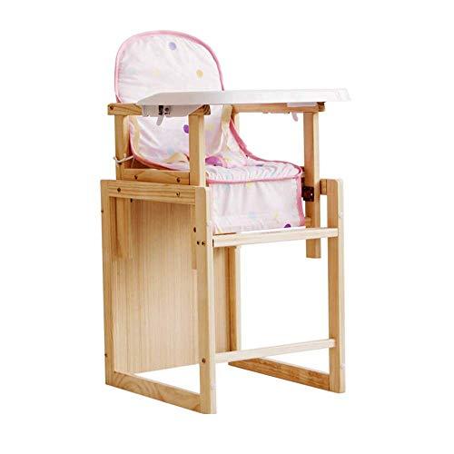 ZYLZL Stuhl Klapphocker Sitz Fußhocker Bank, Baby Faltbarer Esstisch Baby Multifunktionaler Hochkinder Massivholz Verstellbarer Esstisch