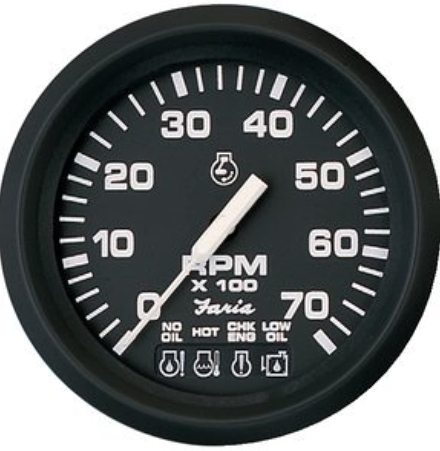 Faria PerimeterLighted Euro 7,000 RPM OMC System Check Tach FAR32850 by FARIA INSTRUMENTS
