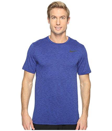Nike Herren M Nk Brt Top SS Hpr Dry Kurzarm Gr. XS, Blau/Schwarz