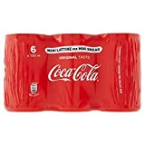 6 botes de Coke Cola mini lata original de Cola de 150 ml, bebida italiana sin alcohol