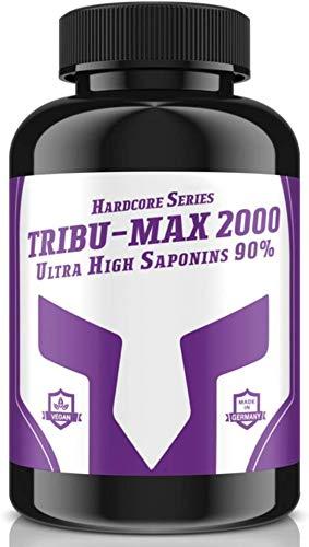 TRIBU-MAX 2000 - 240 Tabletten für 60 Tage Versorgung | Hardcore Series Hochdosiert | Ultra High Saponin 90% | 100 % Vegan - Muskelaufbau + Potenz | Premium Qualität made in Germany
