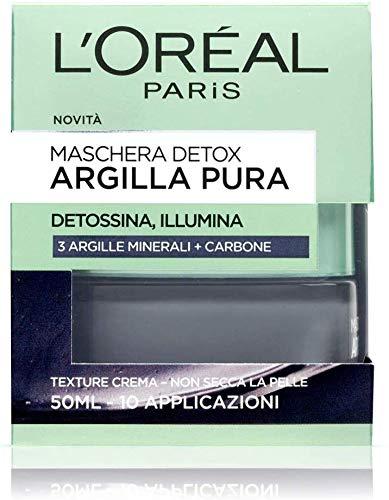 L'OREAL Masque d'argile pure de désintoxication noir de 50 ml. - Soins du visage