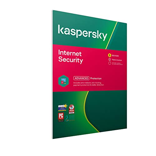Kaspersky Internet Security 2021 | 5 Devices | 2 Years | Antivirus and Secure VPN Included | PC/Mac/Android | Activation Code by Post