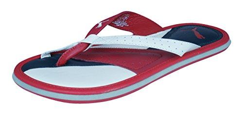 PUMA Porter Damen Leder Sandalen/Flip Flops -Red-35.5