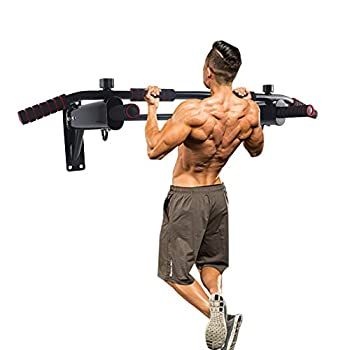 Newan Pull Up Bar Wall Mounted Chin Up Bar Multi-Grip Full Body Strength Training Workout Dip Bar,Power Tower Set Support to 440Lbs