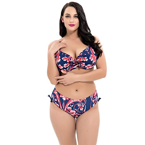 Baymate Mujer Bikini Talla Grande Impresión Flores