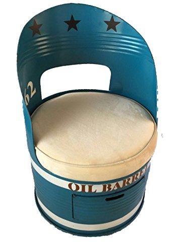 DiiliHiiri fauteuil Retro Vintage jaren 50 gerecycled olie-jerrycan met geïntegreerde lade