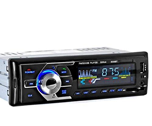 Haoyishang 12 V multifonctions Bluetooth véhicule MP3 Player récepteur avec couleur de l'éclairage variable et Conformal-coated PCB Circuit et Couvre USB et aux entrées