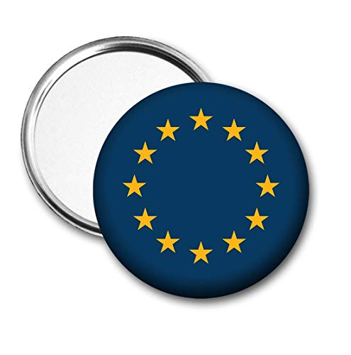 Europa Vlag Pocket Spiegel voor Handtas - Handtas - Gift - Verjaardag - Kerstmis - Stocking Filler - Secret Santa