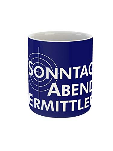 clothinx Kaffeetasse mit Aufdruck Sonntag Abend Ermittler