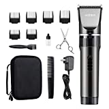 WONER HC818B Hair Clippers, Rechargeable Cordless Hair Trimmers for Men Women 16-Piece Home Hair Cutting Kits