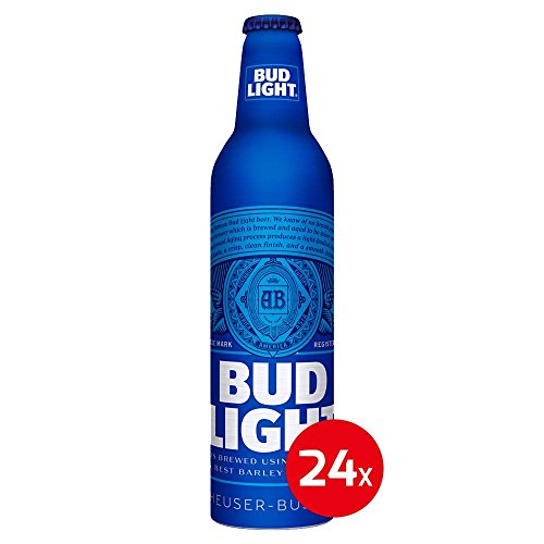 US Bier - 14 Sorten - 24 Dosen/Flaschen - Anheuser-Bush Bud Light Lime Coors Michelob Ultra Miller Genuine Draft High LifeMilwaukee Best Pabst Blue Ribbon lager (Bud Light, 24x 473ml)