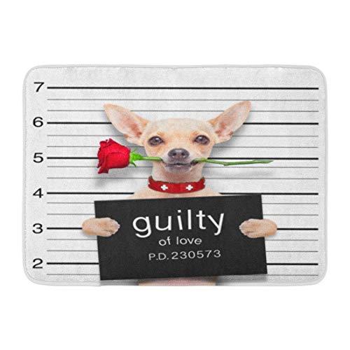 Goodshope deurmatten Bad tapijten buiten/binnendeur Mat Bad Valentines Chihuahua Hond Rose in de mond als mok schuld voor liefde Arrest badkamer Decor antislip tapijt 16