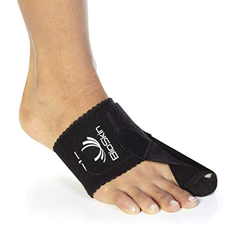 Bunion Corrector Toe Splint - Bunion Toe Straightener for Hallux Valgus - Day or Night Support for Bunion Correction and Relief- by BioSkin - Small