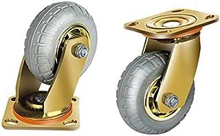 2 wielen 2/4/5/6/8 inch industriële zwenkwielen met gouden kogelrem, heavy duty transportwielen (kleur: vaste wielen, groo...