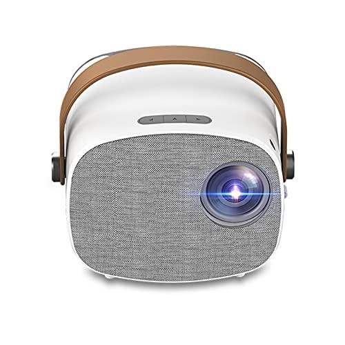 NIBABA Soporta HD Portátil General Propósito Mini Micro Micro Proyector LED Entretenimiento Soporte Proyector de Alta definición con Función De Proyección (Color : White, Size : 94.4x117.8x113.4mm)