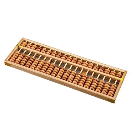 SHM-MM Glas Vintage-Holz-15 Rods Abacus Chinesischer glücklicher Rechner Berechnung Werkzeug-Geschenk Loupe