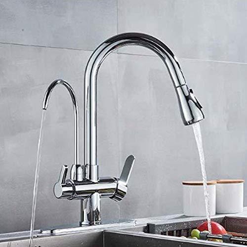 Grifo de filtro de agua 3 en 1, grifo de 3 vías, grifo de agua potable, sistema de ósmosis, grifo mezclador de cocina