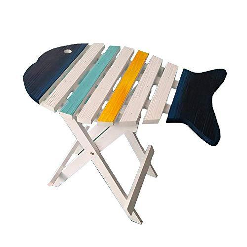 BinLZ-Table Fischförmigen Massivholz Blumenständer Telefon Tisch Beistelltisch Zeitungsständer Tun Das Alte Dekorative Faltbare Büro, 1