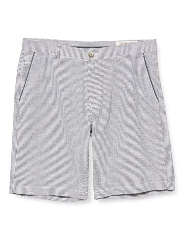 Springfield FRQ Bermuda Lino Rayas-c/43 Pantalones, (Multicolor 43784043), (Tamaño del Fabricante: 42) para Hombre