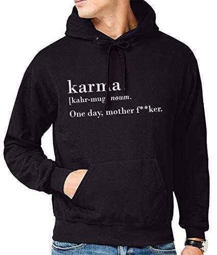 Sudadera con frase original Karma