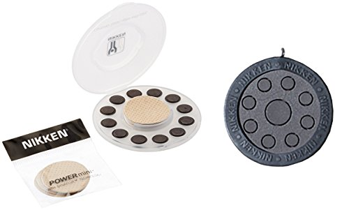 Nikken Kenko PowerMini (1462) and Power Chip (1450) Bundle - Reusable Magnetic Therapy and Far Infrared - Reduce Stress Fatigue Soreness - 100% Magnetic Coverage, Relief Body Pain, Tension, Stress