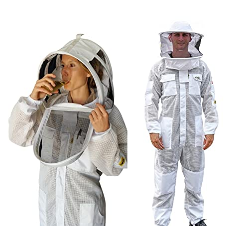 OZ ARMOUR Beekeeping Suit Ventilated ULTRA COOL Three Plus Layers Mesh with Two Hoods. (8XL)