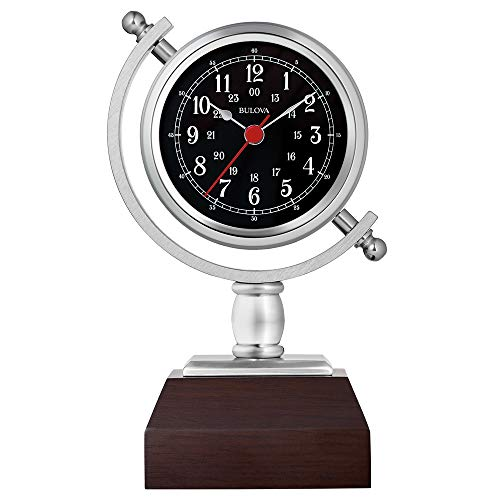 "Bulova B5402 Sag Harbor Mantel Clock, 8.25"", Espresso Finish"