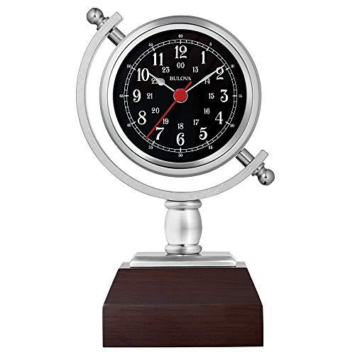 """Bulova B5402 Sag Harbor Mantel Clock, 8.25"""", Espresso Finish"""