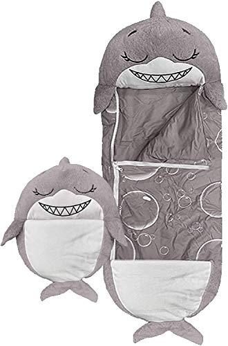 Almohada Shark Happy Play,Saco de Dormir Mediano y Divertido Sorpresa para el hogar, Camping, Regalo
