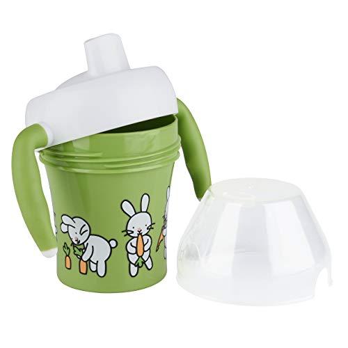 Emsa 509091 Trinklernbecher für Kleinkinder, 0.2 Liter, Soft-Touch Griffe, Grün, Farm Family - 3